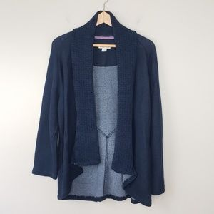 Coldwater Creek | Dark Navy Open Cardigan
